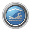"3D Style Button ""Indoor Swimming"""