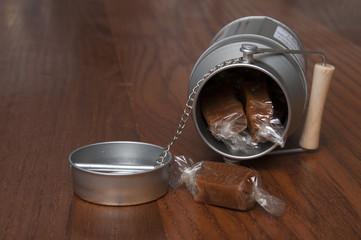 Caramel and milk jug