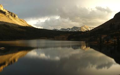Lake at Tioga pass in Yosemite