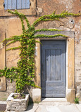 Entry to old tenement house in Gordes,  Provence in France