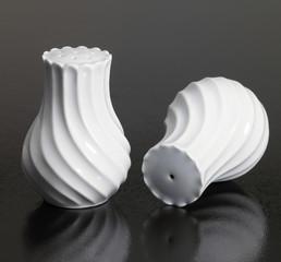 white porcelain salt and pepper shaker