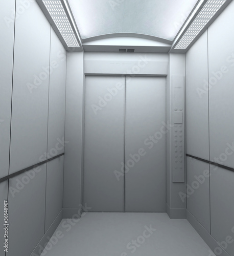 ascensore rendering 3d interno