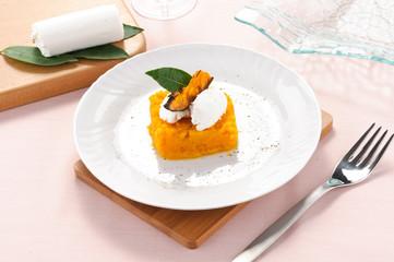Soufflè di zucca con formaggio