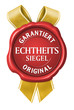 echtheitssiegel garantiert original siegel button