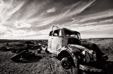 Fototapeta czarno-biały - niebo - Ciężarówka