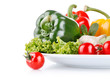 fresh vegetables with lettuce