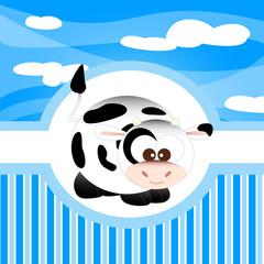 animali della fattoria, mucca
