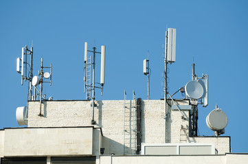 GSM transmitters on a roof