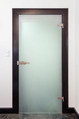 Modern closed glass  door
