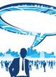 business people speech bubble