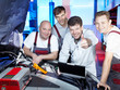 Motor mechanics are satisfied with tuning the engine of a car