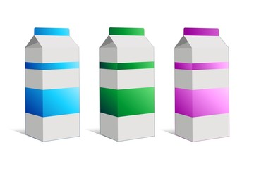 Latte Cartone Tetrapack Brick-Milk-Vector