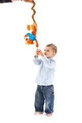 Baby with developmental toy