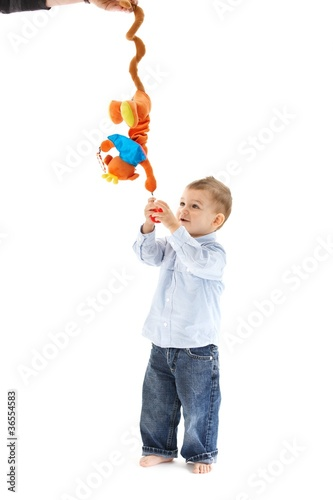 Baby with developmental toy