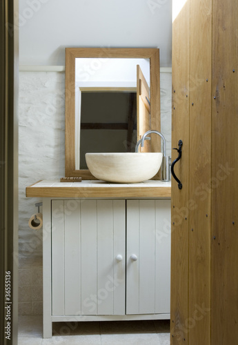 Bowl sink in modern bathroom