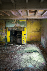 inside derelict house