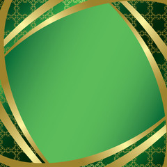 vector green frame with center gradient
