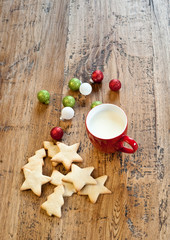 Xmas cookies and red mug