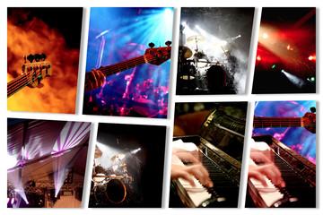 Schräge Musik Collage