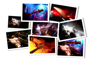 Gemischte Musik-Event Collage