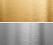 aluminium and brass metal plates