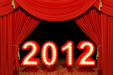 2012 with red stage theater drapes