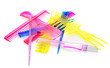 Set multi-coloured transparent combs