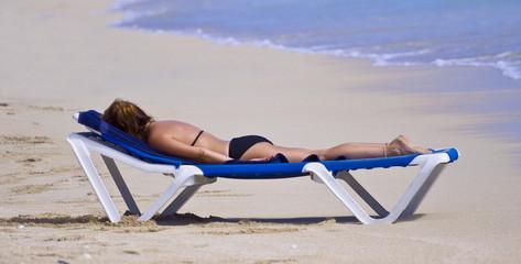 St Maarten tropical island.