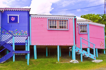 houses at St Maarten tropical island