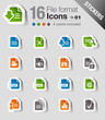 Stickers - File format icons