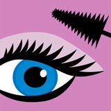 Female eye mascara