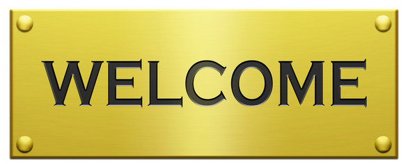 """Welcome"" Engraved Plaque"