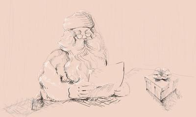 Babbo Natale  black&white
