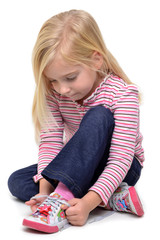 Girl Tying Laces