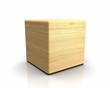 3D Holzwürfel abgerundet - Fichte