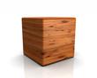 3D Holzwürfel abgerundet - Eibe (Europäisch)