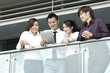 Asian Business people using Touch-pad PC