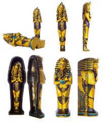 Pharaoh mummy set   Isolated