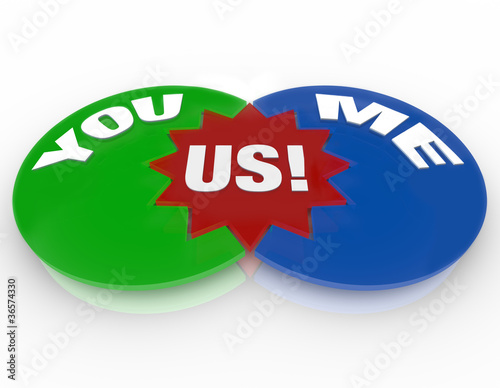 You Me Us - Venn Diagram Relationship Love Compatibility