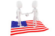 3d man and USA flag, business concept