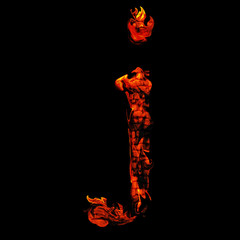 High resolution red hot burning flame or fire font isolated