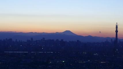 富士山とスカイツリー