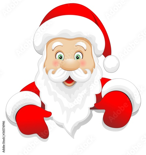 Babbo Natale Cartoon Auguri-Santa Claus Message-Vector
