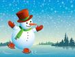 Snowman and skating