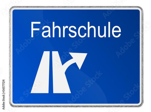 Autobahnschild Fahrschule