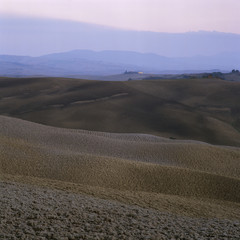 Hills and mountains in horizon