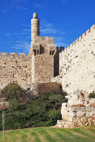 The ancient walls and Tower of David