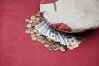 Money under a pillow