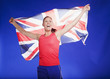 Athlete carrying Union Jack flag