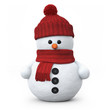 Snowman with woolen hat